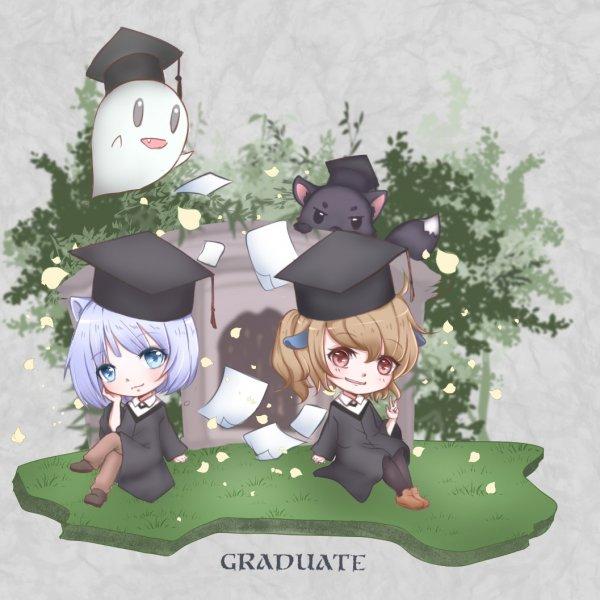 畢業卡片插畫