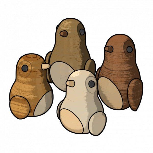 兒童插畫-企鵝家族-去背