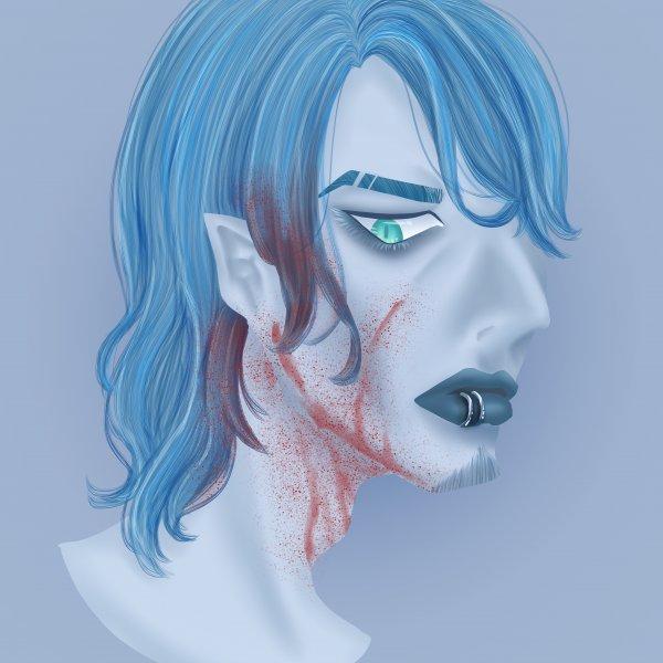 頭像練習-藍